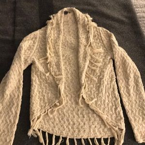 NWOT!! INC Brand Cardigan with Fringe Hem Size L
